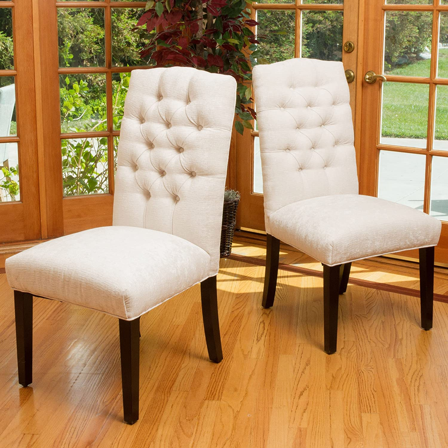 Christopher Knight Home 295076 Crown Top Dining Chair (Set of 2), Ivory