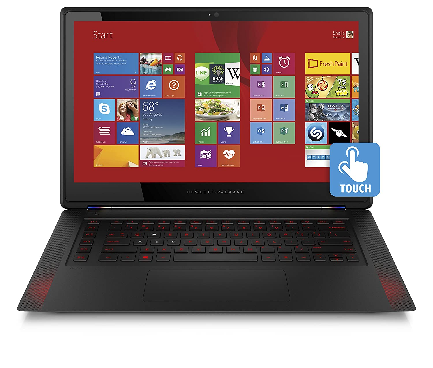 Hp Omen 156 Inch Touchscreen Gaming Laptop Intel Core Dell Alienware M15x Power Button Circuit Board With Cable W 1 Year I7 8 Gb 256 Ssd Black Nvidia Geforce Gtx 960m Computers Accessories