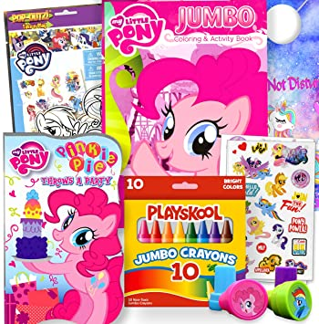 My Little Pony Coloring And Board Book Set Bundle Stickers Stampers And More Pinkie Pie Pink