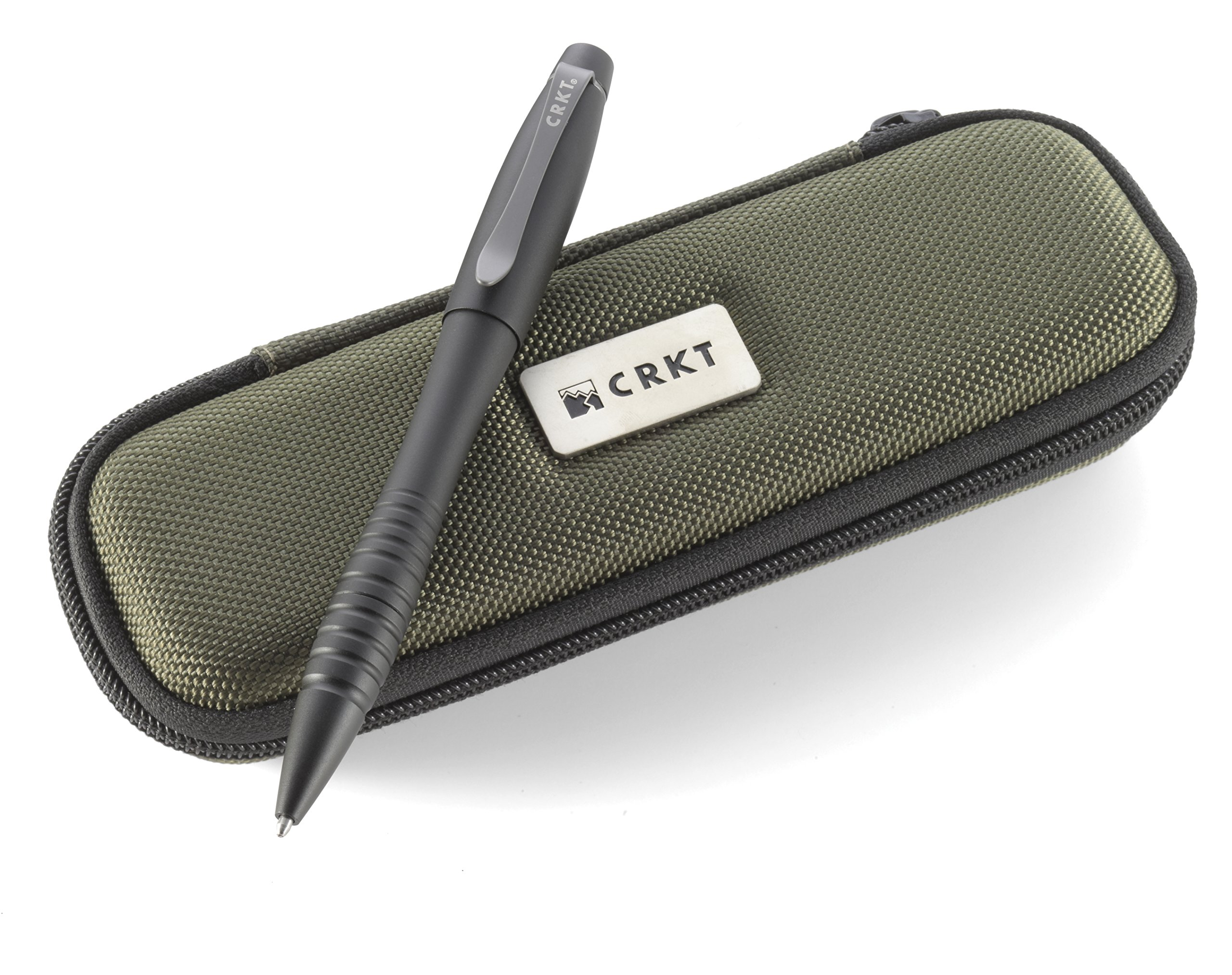 CRKT Williams Tactical Pen: Low Profile, EDC Self Defense Survival Pen Made of Black Anodized Aluminum with Fisher Space Ink Cartridge and Pocket Clip, with Case TPENWK by Columbia River Knife & Tool (Image #1)