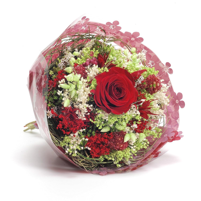 Bouquet Garden (Rosso) Sanremo fiori essiccati dalla Riviera dei Fiori con rosa stabilizzata … Sweet Pea Sanremo Trade S.R.L.