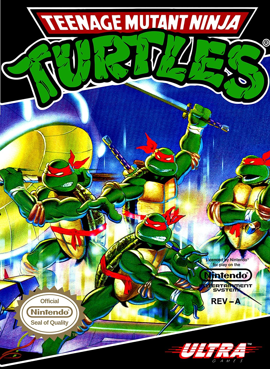 Reproduction Retro A3 video game print Poster of TMNT ...