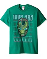 Marvel Men's Iron Man Ugly Christmas T-Shirt