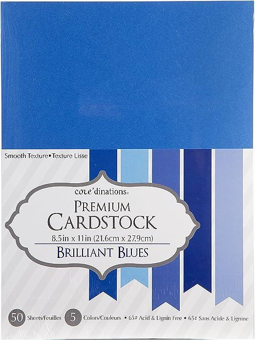 "Core/'dinations Value Pack Smooth Cardstock 8.5/""X11/"" 50 Per Pkg-Black Cat"