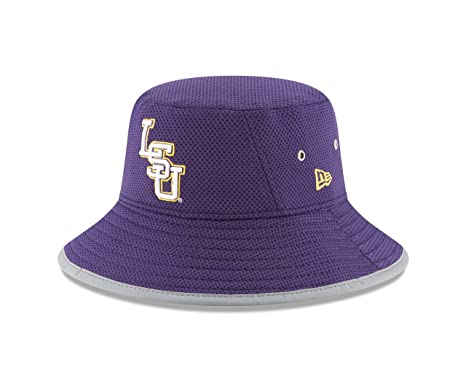 7b164b04be1 Amazon.com   New Era NCAA LSU Tigers Adult NE16 Training Bucket Hat ...