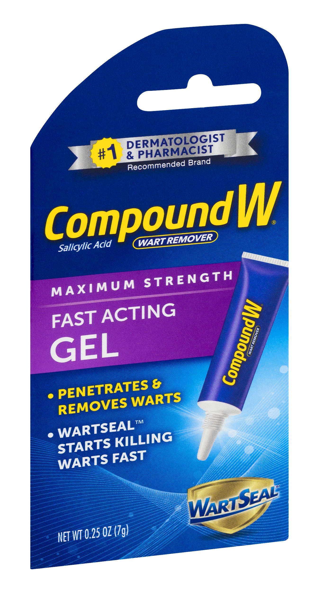 Compound W Salicylic Acid Wart Remover | Maximum Strength Fast Acting Gel | 0.25 oz | (Value Pack of 2) by Compound W (Image #3)