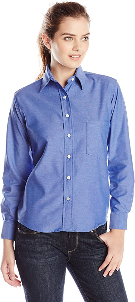 Red Kap Mens Executive Oxford Dress Shirt French Blue 5X-Large