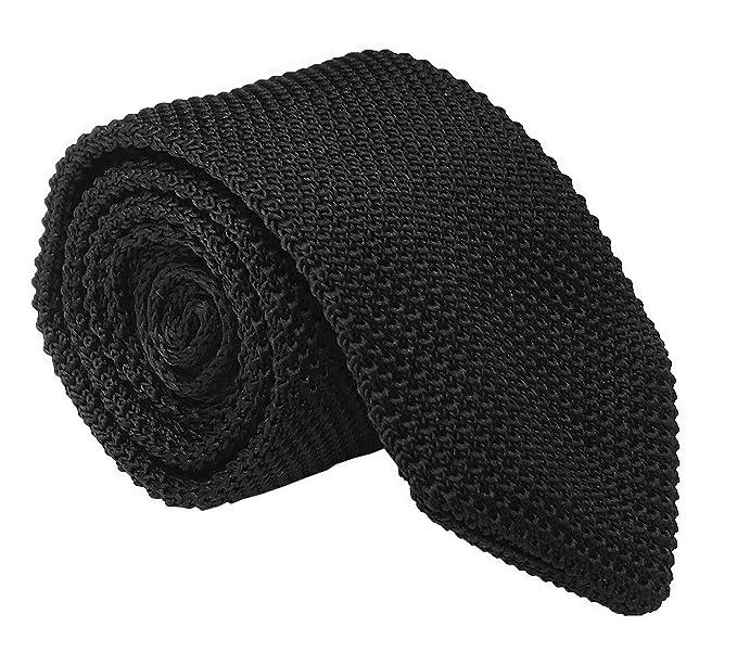 "6e1634e9465e Men's Skinny Knit Tie Vintage Solid Color Casual Formal Designer Necktie  2.75"" (One Size"