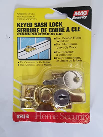 Mag 8741-B Keyed Sash Lock - General Hardware And Construction Equipment - Amazon.com