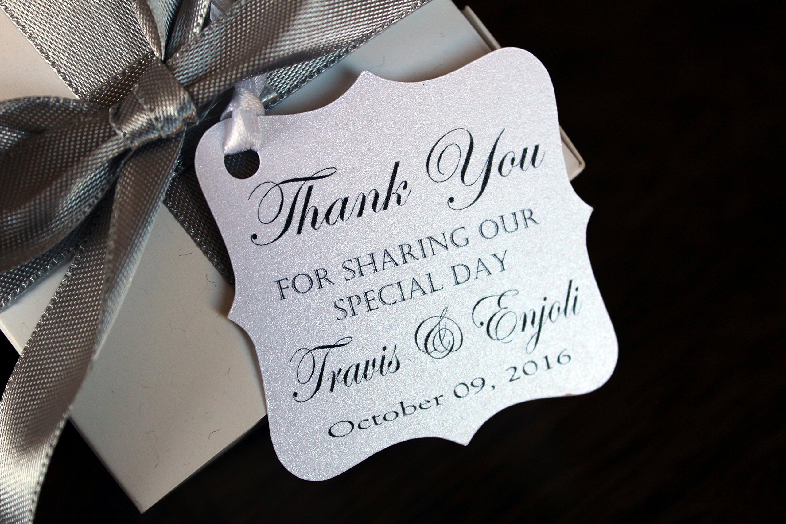 Wedding Favor Thank You Tags