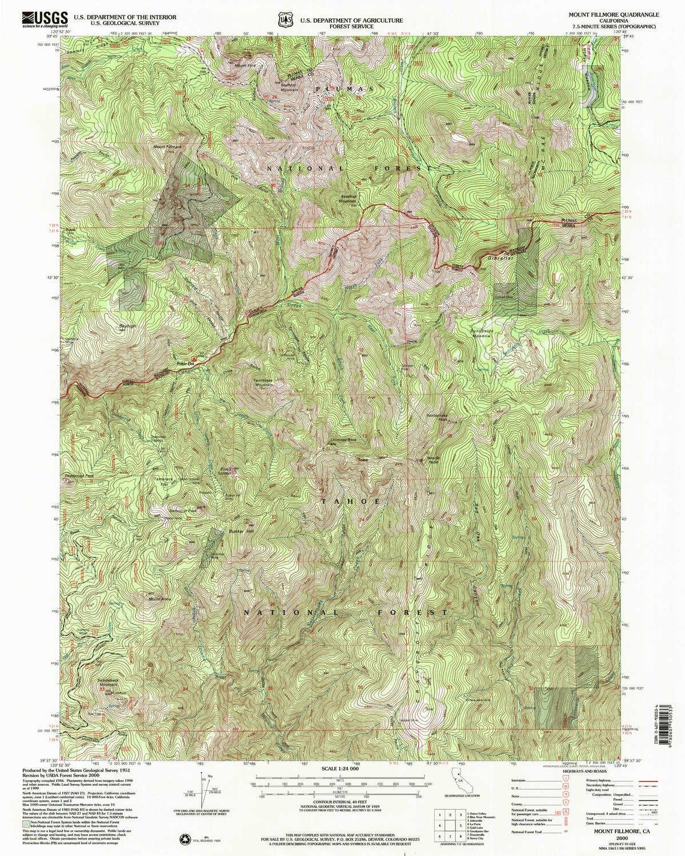 Amazon Com Yellowmaps Mount Fillmore Ca Topo Map 1 24000 Scale