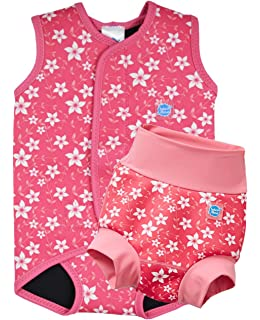 Splash About Babies Baby Wrap Wetsuit Pink Blossom Medium By