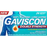 Gaviscon Double Strength Chewable Tablets Peppermint Heartburn & Indigestion Relief, 39g