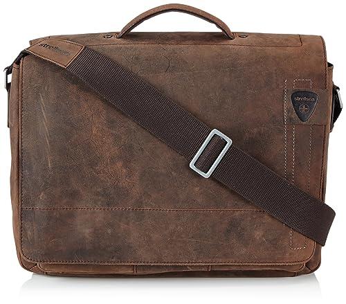 Strellson Richmond Briefbag L, Borsa A Tracolla da uomo, marrone (dark  brown 702), 40x29x12 cm (B x H x T): Amazon.it: Scarpe e borse