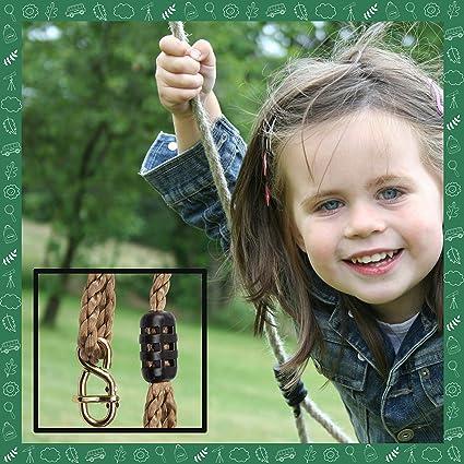 LittleBoyny Swing Rope Perfect Garden Swings for Children Outdoor Garden Swings for Children Kids Swings for Garden 2.5m Pair of Ropes