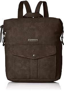 Damen Khema Backpack Rucksackhandtasche, Schwarz (Black Comb.), 8,5x31x27 cm Tamaris