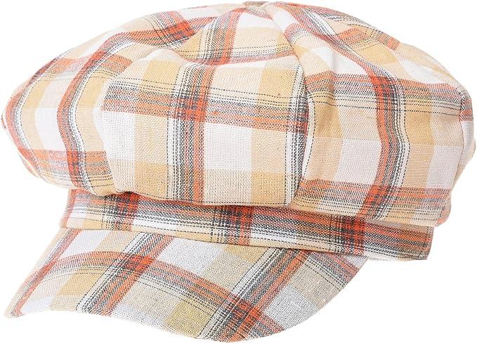 WITHMOONS Coppola Cappello Irish Gatsby Newsboy Hat Visor Peak Summer Tartan Check Beret Cap SLG1011