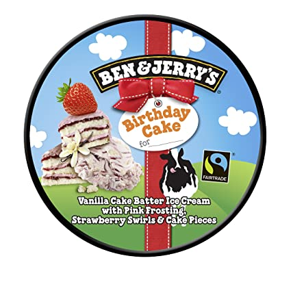 Ben Jerrys Birthday Cake Ice Cream Dessert Frozen Amazoncouk Grocery