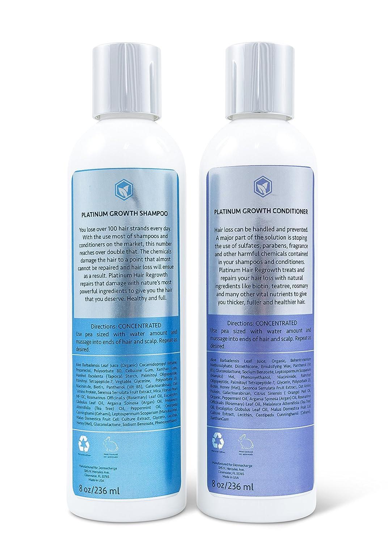 DermaChange Champú y Acondicionador con Aceite de Argán Orgánico y Biotina: Amazon.es: Belleza