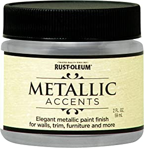 Rust-Oleum 255269 Metallic Accents Paint, 2 oz Trial Size, Sterling Silver
