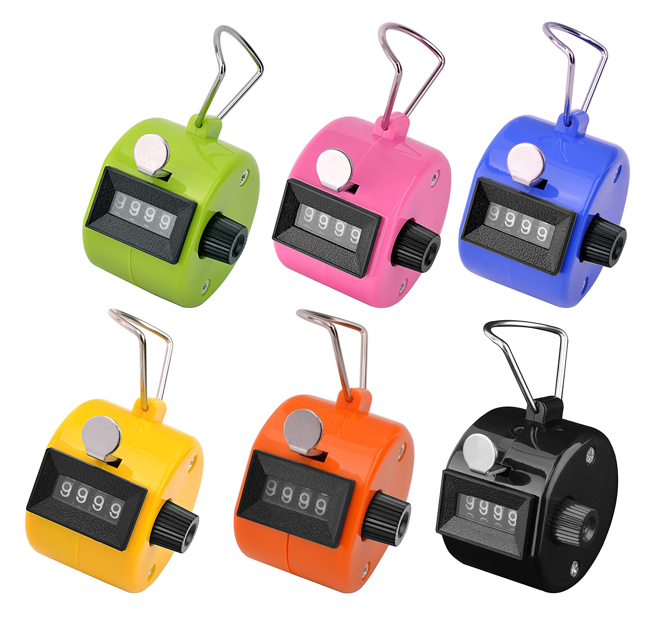 d5b18268d29f KTRIO Pack of 6 Color Hand Tally Counter 4 Digit Tally Counter Mechanical  Palm Click Counter
