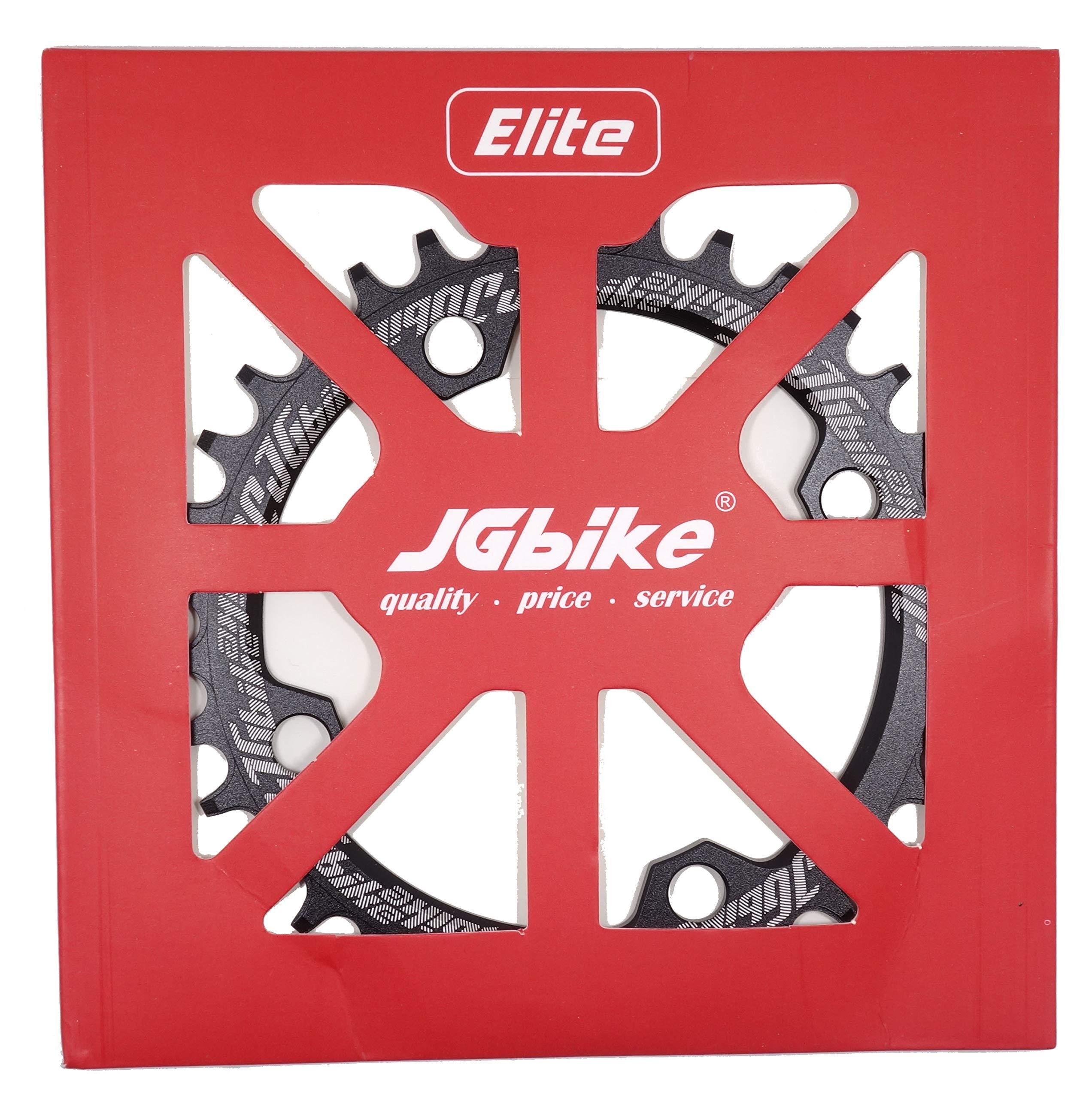 JGbike Elite Round Oval 104mm BCD 32T 34T 36T 38T Narrow Wide Single Chainring for MTB XC Trail e-Bike Fat Bike Mountain Bike Bicycle