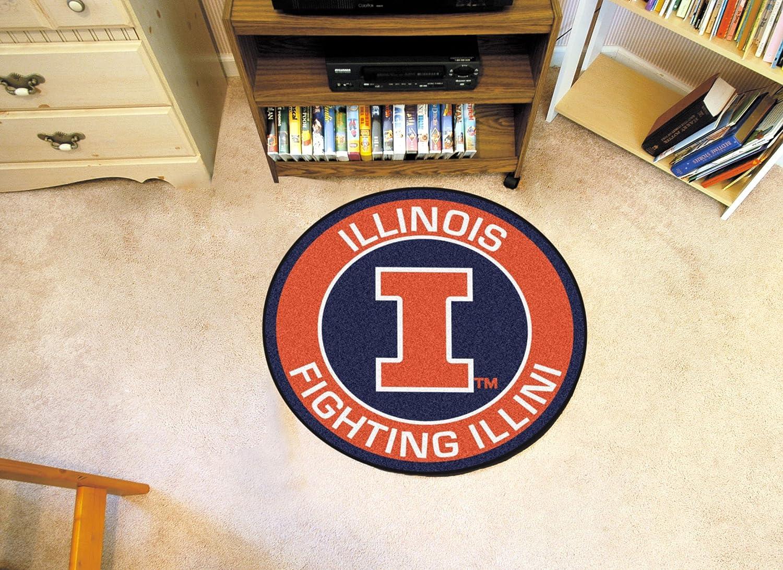 FANMATS 18608 University of Illinois Roundel Mat