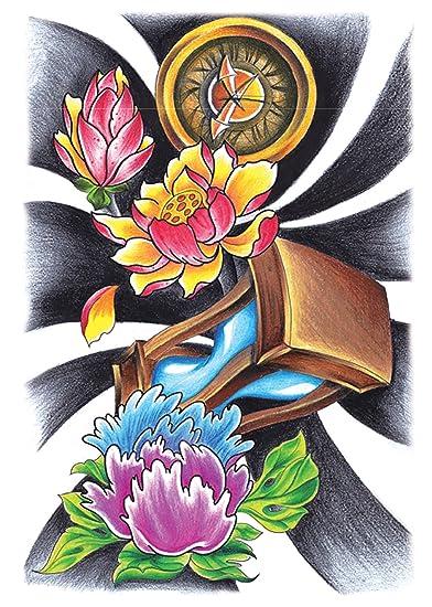 Amazon Com Sand Timer Lotus Flower Large 8 25 Half Sleeve Arm
