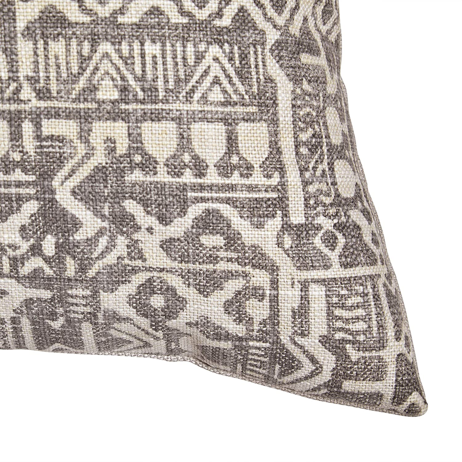 Stone & Beam Casual Global Throw Pillow - 20 x 20 Inch, Charcoal