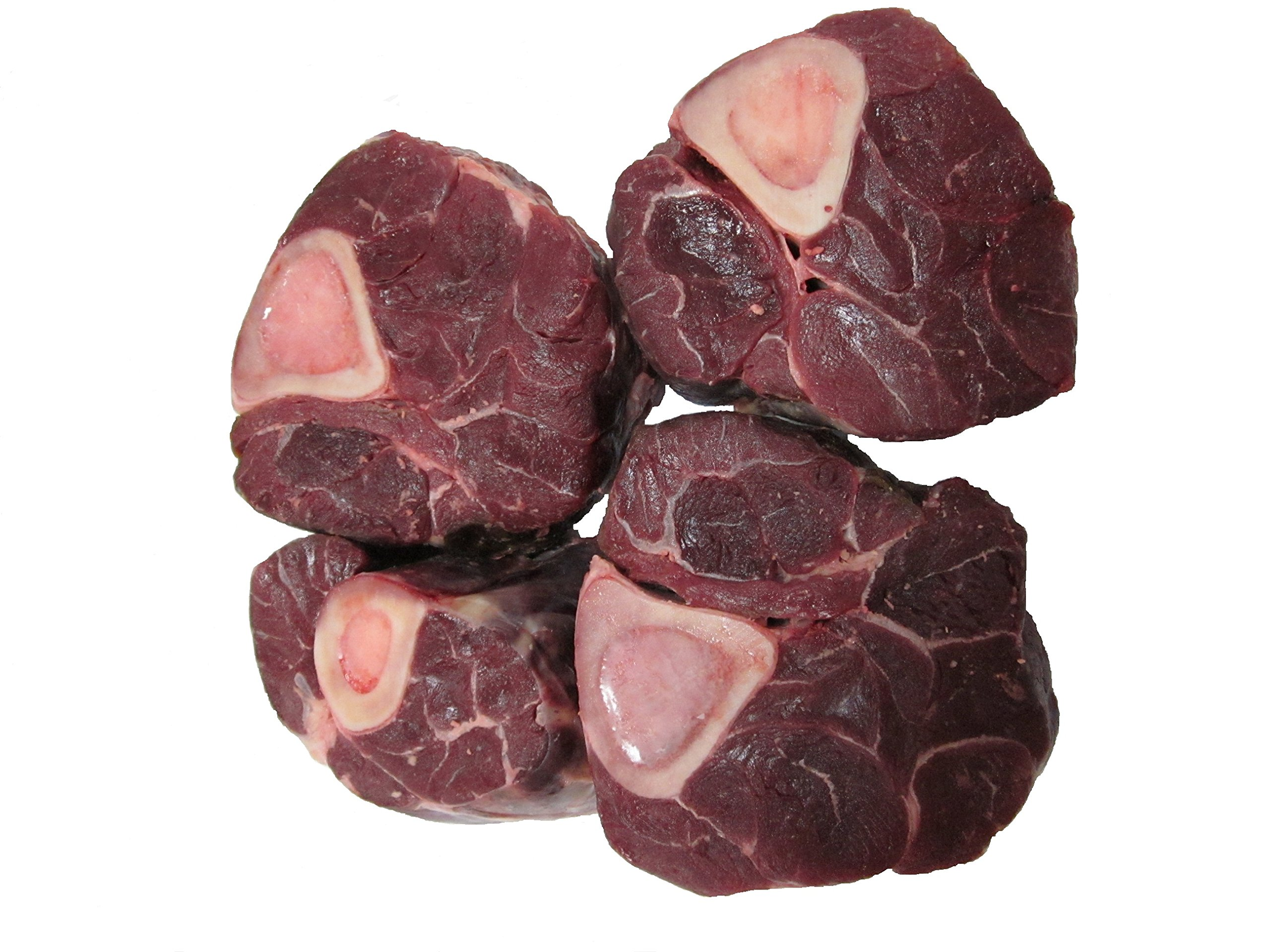 Center Cut Bison Shank USDA Inspected (8 Osso Buco Per Case) Made with North American Buffalo.