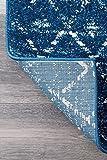 "nuLOOM Moroccan Blythe Area Rug, 9' 10"" x 14', Blue"