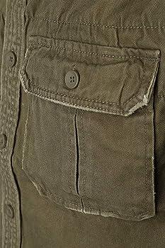 Brandit - Camisa retro de manga larga y manga corta, varios colores, tallas S a 7XL Olive, Manches Courtes M: Amazon.es: Ropa y accesorios