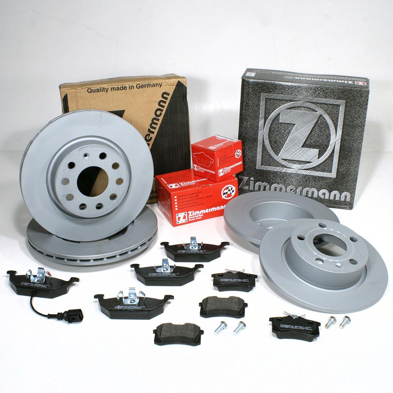 Bremsbel/äge f/ür vorne Zimmermann Bremsscheiben 1ZF 1KD Coat Z//Bremsen hinten