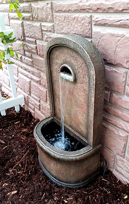 Welcome Areas Porches The Chateau 30 Floor//Wall Fountain: Outdoor Water Feature Perfect for Patios Decks Gardens and Other Living Spaces