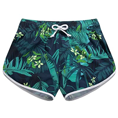 SULANG Women's 4-Way Stretch Quick Dry Swim Board Shorts at Women's Clothing store