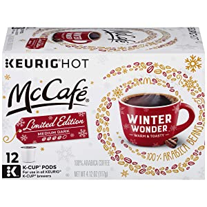 McCafé Winter Wonder Medium Dark Roast K-Cup Coffee Pods, (12 Count (Pack of 1))