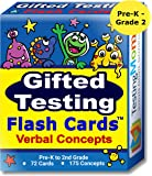 Gifted Testing Flash Cards – Verbal Concepts and Vocabulary for Pre-K – 2nd Grade – Kindergarten Educational Toy Practice for CogAT test, OLSAT test, ITBS, NYC Gifted and Talented, WISC, WPPSI