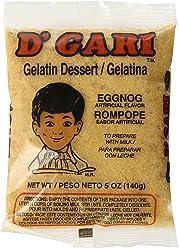 DGari Gelatin Dessert, Egg Nog, 5 Ounce (Pack of ...