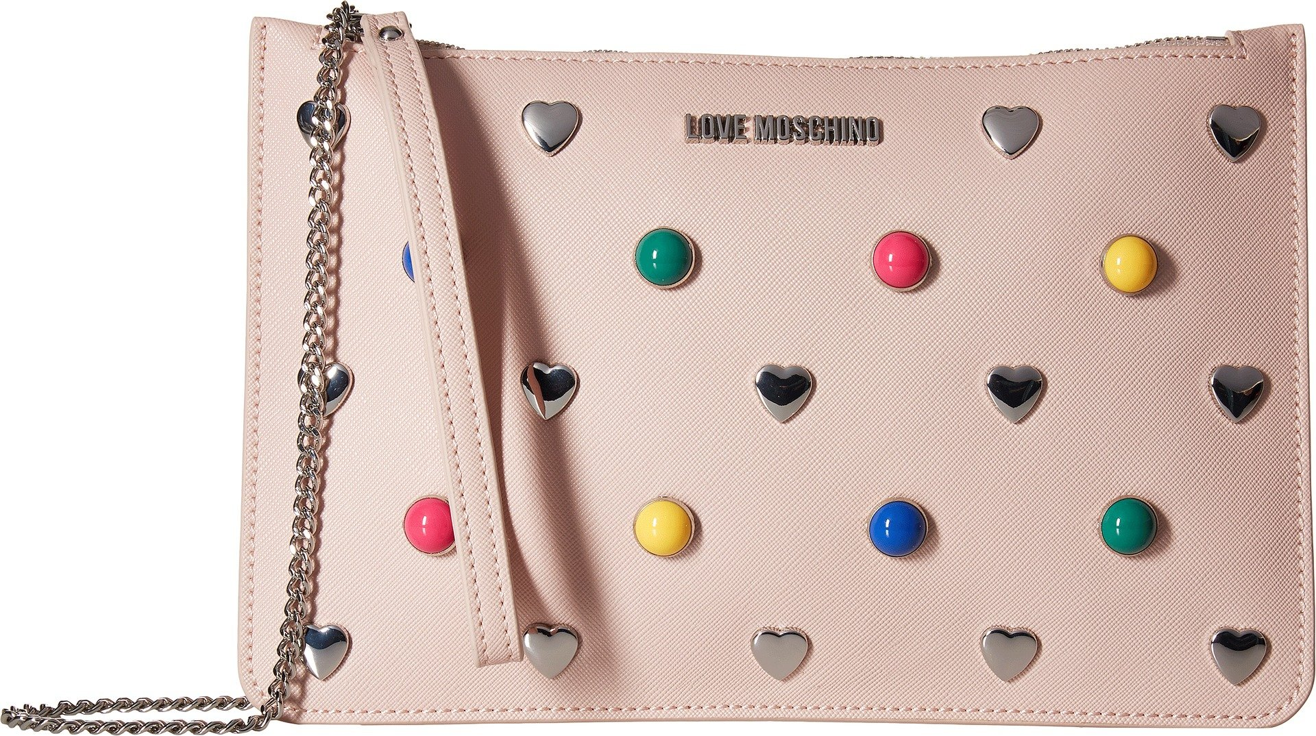 LOVE Moschino Women's Crossbody Chain Strap Pink One Size