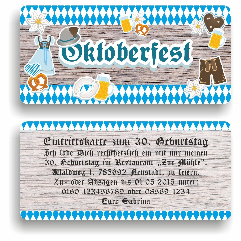 Einladungskarte Geburtstag Oktoberfest I Einladung zur zur zur Mottoparty (40 Stück) B076LW776F | Schön geformt  | Sehr gute Farbe  | Einfach zu spielen, freies Leben  4226b2