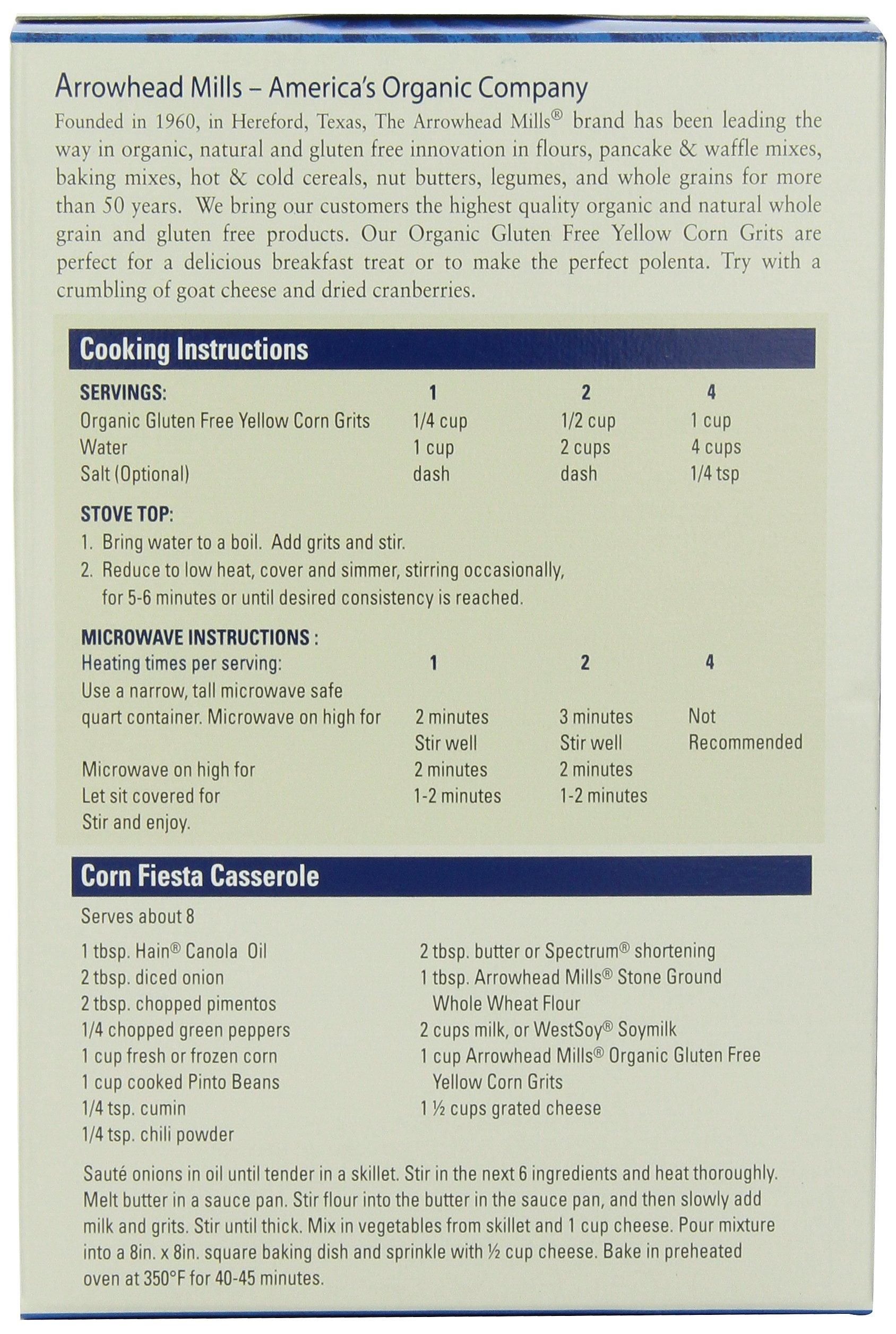 Arrowhead Mills Organic Gluten-Free Yellow Corn Grits, 24 oz. Bag (Pack of 6) by Arrowhead Mills (Image #5)