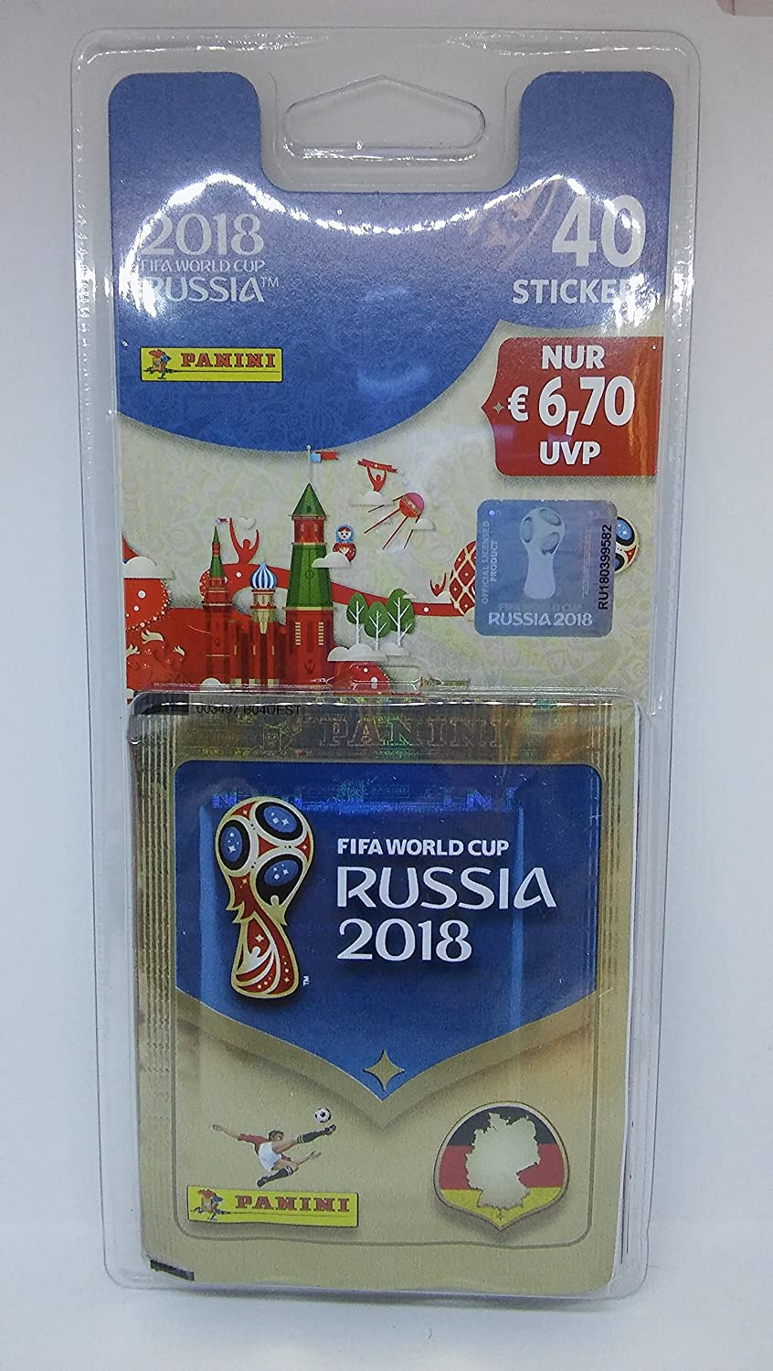 Sammelsticker FIFA World Cup 2018 WM Blister Panini