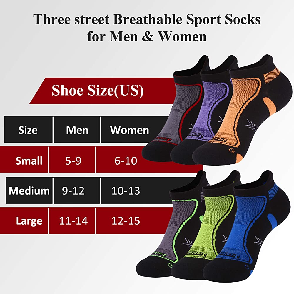 Three street Unisex DRY COOLER Athletic Quick Wicking Ankle Home Training Socks