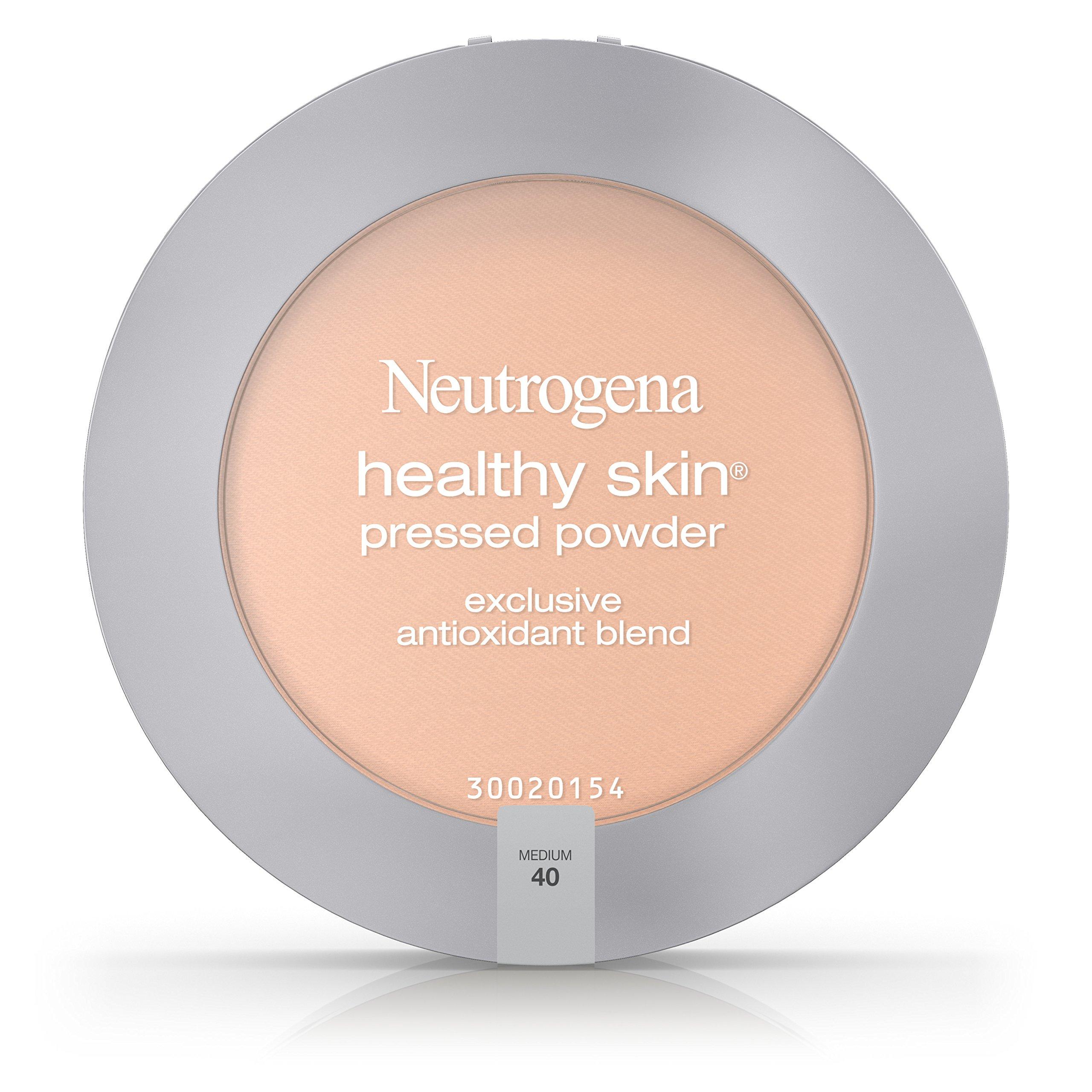 Neutrogena Healthy Skin Pressed Powder Spf 20, Medium 40, 0.34 Oz. (Pack of 2)