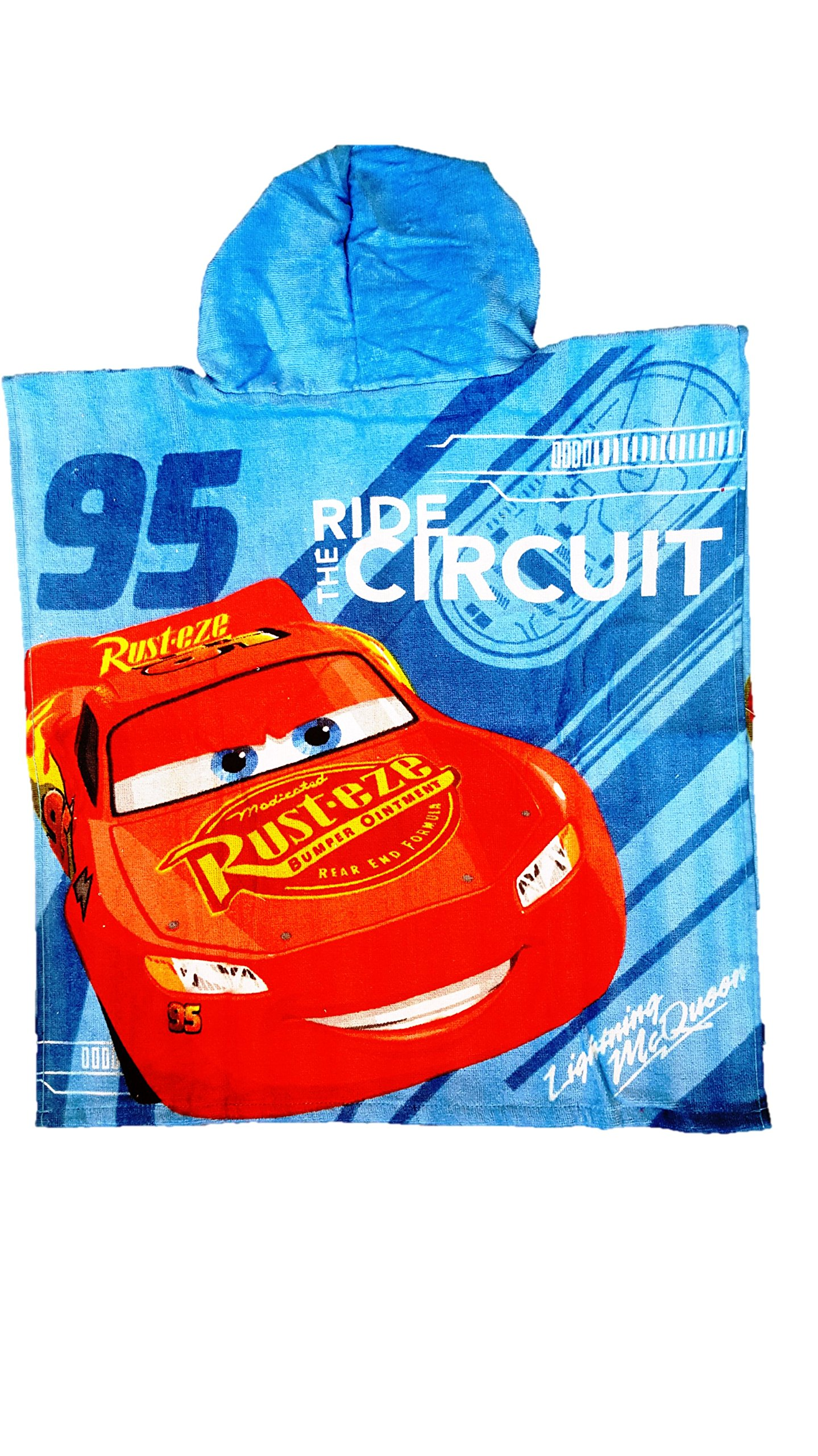 CARS Disney Boys Hooded Towel Poncho