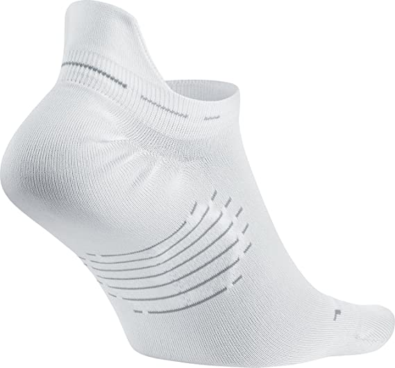 various colors buy best exquisite design Amazon.com: Nike Elite Lightweight NO Show White Wolf Grey ...