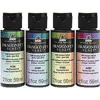 FolkArt Dragonfly Glaze Paint, 4 Pack