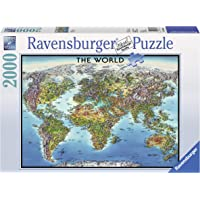 2000-Pc. Ravensburger World Map Jigsaw Puzzle