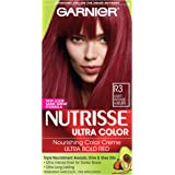 Garnier Nutrisse Hair Color, R3 Light Intense Auburn Nourishing Color Creme Permanent
