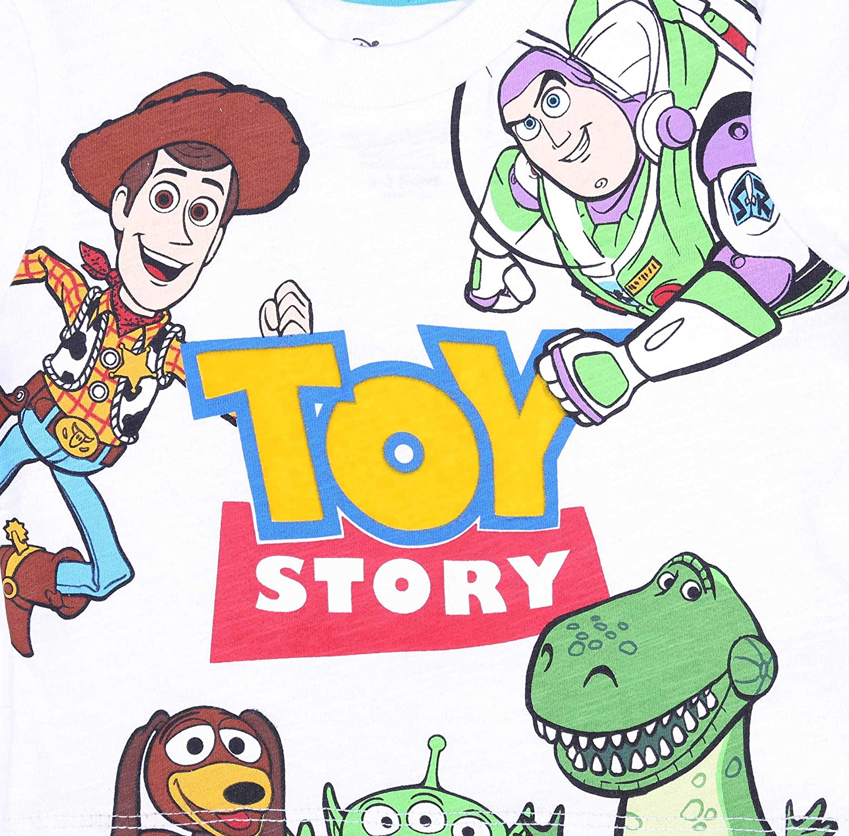 Toy Story Shorts Disney Wei/ßes T-Shirt